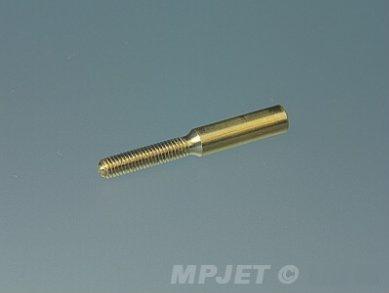 Threaded brass coupler, M2