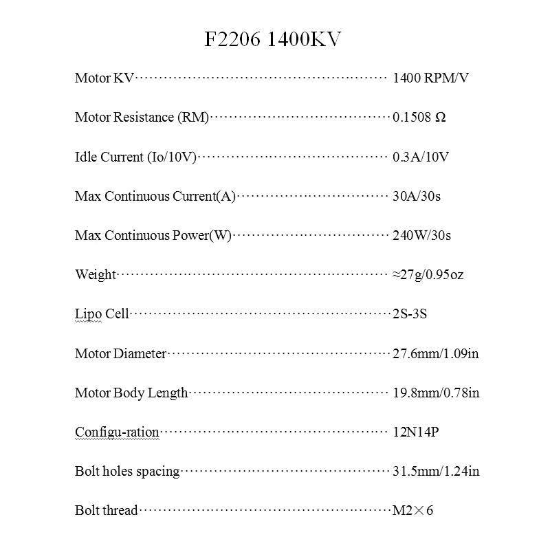 Volta X2206/1400kV Indoor/F3P/Backyard Outrunner Motor