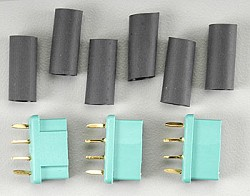 Original Multiplex 6 pins high current connectors ( 3 sockets )