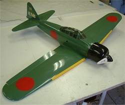 Zero fighter, all moulded